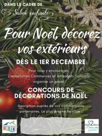 Noel, salies de Bearn, noel dans le sud ouest, decorations de noel