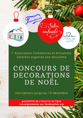 Afiche comcours decorations de Noel
